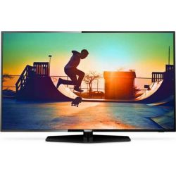 "Televizor LED Smart PHILIPS 55PUT6162/12 55"" (140 cm), Smart TV, Plat, Ultra HD, Producător specific, Negru"