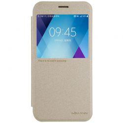 Husa SAMSUNG Galaxy A5 2017 A520 Nillkin Sparkle S-View Flip Auriu