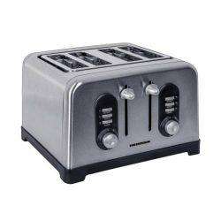 Prajitor de paine HEINNER HTP-BK1400XMC, 4 felii, 1600 W, argintiu