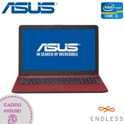 "Laptop ASUS VivoBook X541UA-GO1709 15.6"" 1366x768 pixels, Intel® Core™ i3-7100U 2.00 GHz Skylake™, 4 GB DDR4, HDD 500 GB, Intel® HD 620 Preluată din RAM, DVD/CD-RW combo, Roșu"
