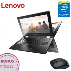 "Laptop 2-in-1 LENOVO Yoga 300-11 11.6"" 1366x768 pixels, Intel® Celeron®-N3060 1.60 GHz Braswell™, 4 GB DDR3, HDD 500 GB, Intel® HD 400 Preluată din RAM, Alb"