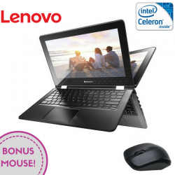 "Laptop 2-in-1 LENOVO Yoga 300-11 11.6"" 1366x768 pixels, Intel® Celeron®-N3060 1.60 GHz Braswell™, 4 GB DDR4, eMMC 32 GB, Intel® HD 400 Preluată din RAM, Alb"