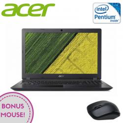 "Laptop ACER 3 A315-51 15.6"" 1366x768 pixels, Intel® Pentium® Quad Core-N4200 2.00 GHz Skylake™, 4 GB DDR4, HDD 500 GB, Intel® HD 505 Preluată din RAM, Negru"