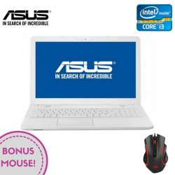 "Laptop ASUS VivoBook Max X541UV-GO1200 15.6"" 1366x768 pixels, Intel® Core™ i3-6006U 2.00 GHz Skylake™, 4 GB DDR4, HDD 500 GB, nVidia® GeForce® GTX 920MX 2 GB, DVD/CD-RW combo, Alb"