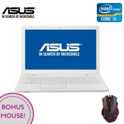 "Laptop ASUS VivoBook Max X541UV-GO1200 15.6"" 1366x768 pixels, Intel® Core™ i3-6006U 2.00 GHz Skylake™, 4 GB DDR4, HDD 500 GB, nVidia® GeForce® GTX 920MX 2 GB, DVD/CD-RW combo, Alb"