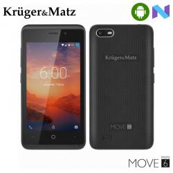 "Telefon KRUGER & MATZ Move 6 Mini 4"" 480x800 pixels, 2G, 3G, 4G, Dual SIM, Quad core, 1 GB RAM, stocare 8 GB, Negru, cameră față 0.3 MP, cameră spate 2 MP, Android 7.0 (Nougat)"