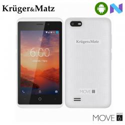 "Telefon KRUGER & MATZ Move 6 Mini 4"" 480x800 pixels, 2G, 3G, 4G, Dual SIM, Quad core, 1 GB RAM, stocare 8 GB, Alb, cameră față 0.3 MP, cameră spate 2 MP, Android 7.0 (Nougat)"