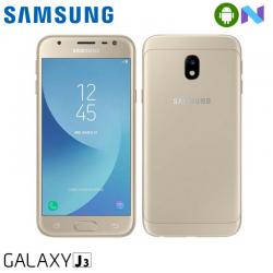 "Telefon SAMSUNG Galaxy J3 2017 5"" 720x1280 pixels (HD), 2G, 3G, 4G, Dual SIM, Quad core, 2 GB RAM, stocare 16 GB, Auriu, cameră față 5 MP, cameră spate 13 MP, Android 7.0 (Nougat)"