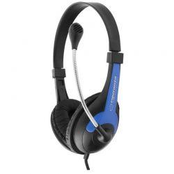 Casti cu microfon ESPERANZA Rooster EH158B Stereo Negru/Albastru