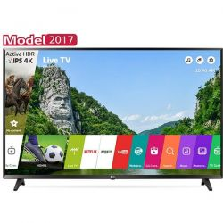 "Televizor LED Smart LG 43UJ620U 43"" (109 cm), Smart TV, Plat, Ultra HD, WebOS, Negru"