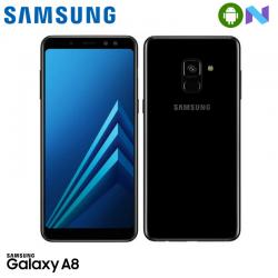 "Telefon SAMSUNG GALAXY A8 2018 5.6"" 1080x2220 pixels, 2G, 3G, 4G, Dual SIM (Dual Stand-by), Octa core, 4 GB RAM, stocare 32 GB, Negru, cameră față 16 MP, cameră spate Dual 16 MP+8 MP, Android 7.1 (Nougat)"
