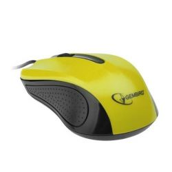 Mouse GEMBIRD MUS-101 USB, Optic, Galben