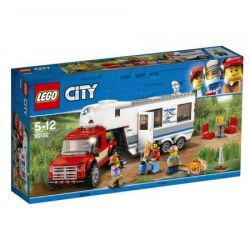 LEGO CITY Camioneta si Rulota 60182