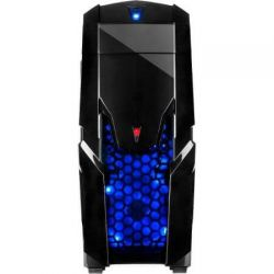 Carcasa INTER-TECH Q2 Illuminator Blue SECC Steel ATX Mid Tower fara sursa
