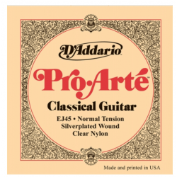 Corzi chitara clasica D'Addario Nylon EJ45 Pro, Normal tension