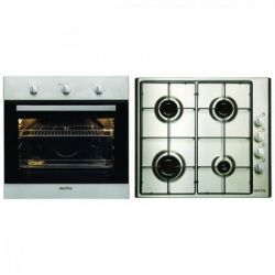 Plita + Cuptor incorporabil ARCTIC AROSC22130XD, cuptor electric, grill, 4 zone de gatit, gaz, argintiu
