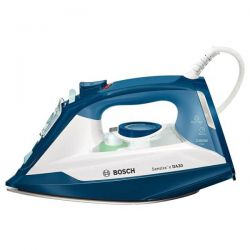 Fier de calcat BOSCH TDA3024110, 150 g/min, 2400W, alb/albastru