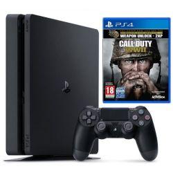Sony Playstation 4 Slim 1TB + Call of Duty WWII