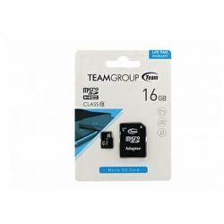 TEAMGROUP microSDHC 16GB Clasa 10 + adaptor