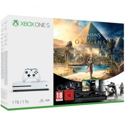 Consola MICROSOFT Xbox One Slim 1TB, alb + joc Assassin's Creed Origins + joc Tom Clancy's Rainbow Six Siege (coduri download)