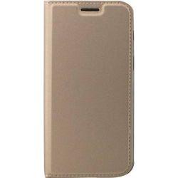 Husa Flip Wallet OEM pentru Samsung Galaxy A6 2018, Auriu