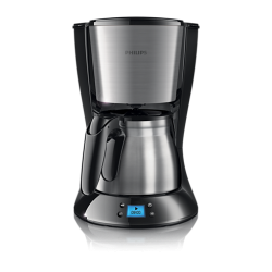 Cafetiera PHILIPS Daily Collection HD7470/20, 1000 W, 1.2 l, negru/inox