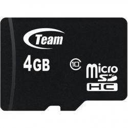 Memorie MICRO-SDHC TEAM 4GB CL10 + Adaptor