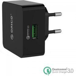 Incarcator retea ORICO QTW-1U Universal, 1x USB, Quick Charge 3.0, negru