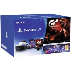 Kit SONY PlayStation VR + PlayStation Camera V2 + Joc Gran Turismo Sport + Joc VR Worlds