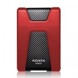 Hard disk extern ADATA HD650, 2 TB, USB 3.1, rosu