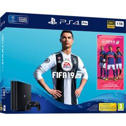 Consola SONY Playstation 4 Pro 1 TB + joc FIFA 19 + Voucher PS Plus 14 zile