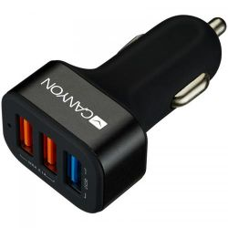 Incarcator auto CANYON CNE-CCA07B, Quick Charge 3.0, 3 x USB, 2.4 A, negru