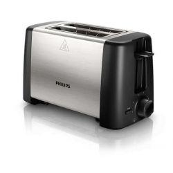 Prajitor de par PHILIPS HD4825/90, 2 felii de paine, 800 W, argintiu/negru