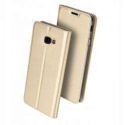 Husa Flip Wallet OEM pentru Samsung Galaxy J4 Plus, auriu