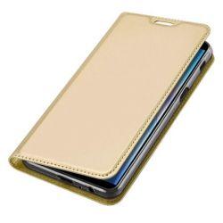 Husa Flip Wallet OEM pentru Samsung Galaxy J6 Plus 2018, auriu