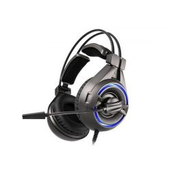 Casti cu microfon SOMIC Senicc A6, USB, negru