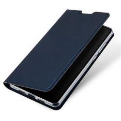 Husa Flip Wallet OEM pentru Samsung Galaxy J4 Plus (2018), albastru