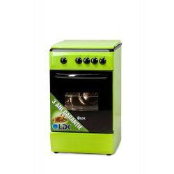 Aragaz LDK 5060 GREEN NG, 4 zone de gatit, gaz, verde