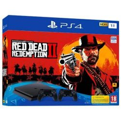 Consola SONY Playstation 4 Slim 1 TB + 2nd Controller + Joc Red Dead Redemption 2