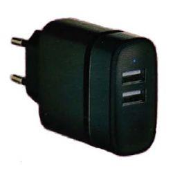 Incarcator retea OEM M124514, 2 x USB, negru