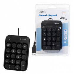 Tastatura numerica LOGILINK ID0174, 18 taste, USB, 1.5 metri, negru