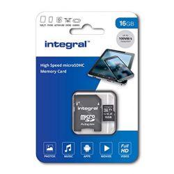 Card de memorie Micro SDHC 16GB INTEGRAL 100V10 + Adaptor