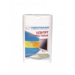 Servetele umede pentru curatare LCD/TFT ESPERANZA ES106, 100 buc.