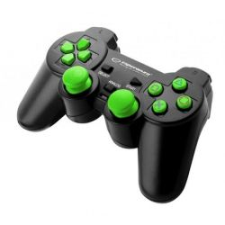 Gamepad ESPERANZA Corsair EGG106G pentru PC/PS2/PS3, negru/verde