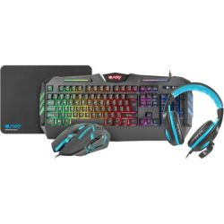 Kit gaming FURY Thunderstreak 2.0 mouse + mousepad + tastatura + casti NFU-1370