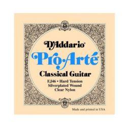 Set de corzi D'ADDARIO chitara clasica EJ46, nylon, hard tension