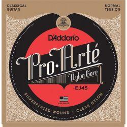 Corzi chitara clasica D'ADDARIO Pro Arte, Nylon, EJ45