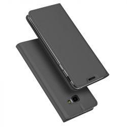 Husa flip wallet OEM pentru Samsung Galaxy J4 plus 2018, Piele ecologica, Negru
