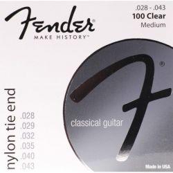 Corzi chitara clasica FENDER, Nylon, 100 - clear