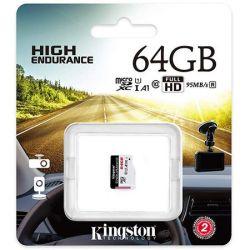 Card de memorie KINGSTON MicroSDXC Endurance, 64GB, 95R/30W, Clasa 10, UHS-I
